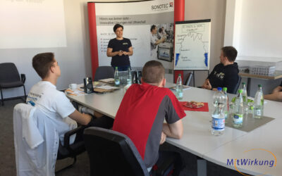 Auszubildende der SONOTEC GmbH starten in MitWirkung!-Lernwoche