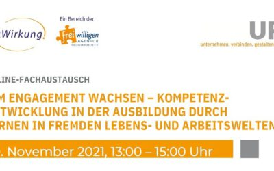 """Neuer Termin! – Online-Fachaustausch """"Im Engagement wachsen"""" am 30.11.2021"""